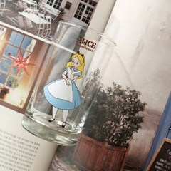 모애 레트로감성 홈카페 디자인 이상한 나라의 앨리스C 유리컵
