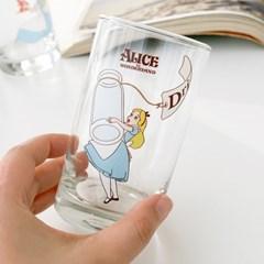 모애 레트로감성 홈카페 디자인 이상한 나라의 앨리스B 유리컵