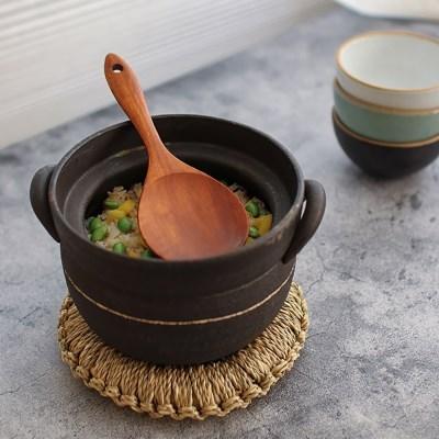 천연 옻칠 원형 밥주걱