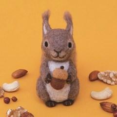 하마나카 양모펠트 다람쥐 DIY