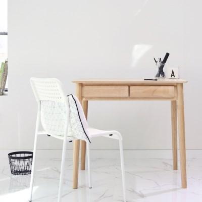 라운디시 2서랍 책상 테이블 80
