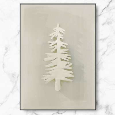 인테리어 액자 겨울 나무