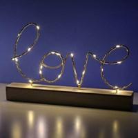 LOVE 골드레터링 무드등 / 무선 테이블조명