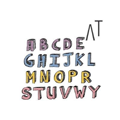 [어라운드테이블] 알파벳와펜(5color)
