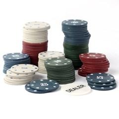 스틸박스 100p 카지노 포커칩/집들이 카드놀이 게임칩