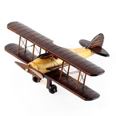 원목 모형 비행기 앤틱 31cm 미니어쳐 모형완구