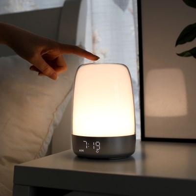 [무아스] 선라이즈 웨이크업 알람시계 무드등 취침등 수면등 조명