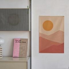 모래사막 일러스트 패브릭 포스터 / 가리개 커튼