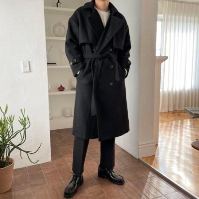 기획 플랜 로브 울 더블 트렌치 코트 5color