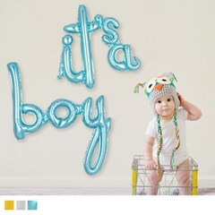[원팩] 이니셜은박풍선 it`s a boy [3컬러]_(12187778)