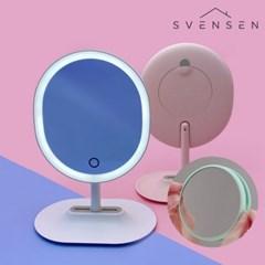 스벤슨 듀얼 터치식 LED 무선 조명 화장대 거울