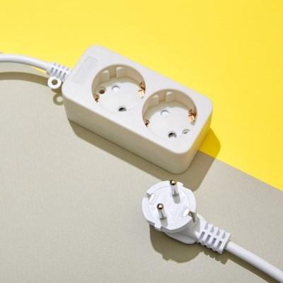 화이트 멀티탭 전선 2구 (10A) 1.5M 3M 5M 10M_(1404389)