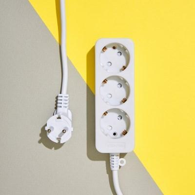 화이트 멀티탭 전선 3구 (10A) 1.5M 3M 5M 10M_(1404388)