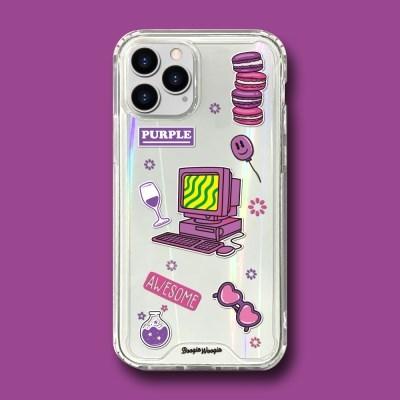 범퍼클리어 케이스 - 퍼플(Purple)