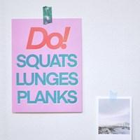 Do! 운동하자 빈티지 미니 포스터