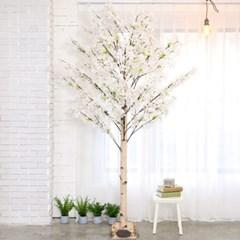 인조나무 인테리어 조화 라일락나무 230cm 화이트핑크_(2310119)