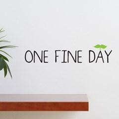 One fine day 감성 레터링 스티커