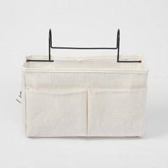 침대 사이드 수납포켓(화이트) 걸이식 수납정리함