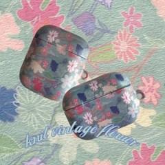 [뮤즈무드]  knit vintage flower airpods case (하드에어팟케이스)