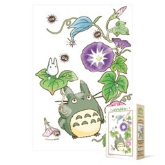 150피스 직소퍼즐 - 토토로 나팔꽃 (초미니)