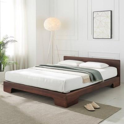 [에띠안]그랑프리 평상형 장미목 원목 침대 킹 K