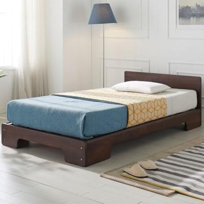 [에띠안]그랑프리 평상형 장미목 원목 침대 슈퍼싱글 SS