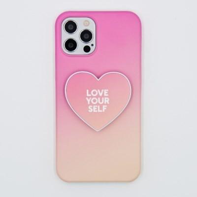 코이트 Love Yourself 아이폰 하드 하트 스마트톡 케이스