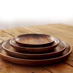 원목 내츄럴 오트리 우드 접시 나무접시 트레이 커트러리