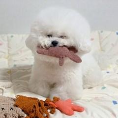 개달당 작은 납작달이 삑삑이 애착인형 강아지장난감 이갈이 소형견