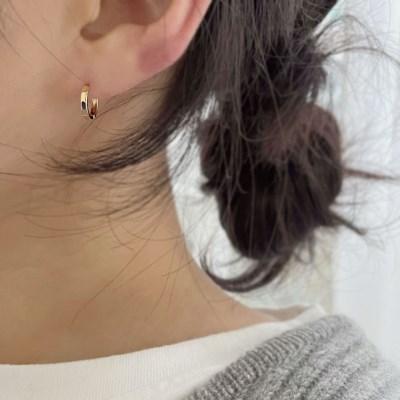 럼플 링 귀걸이 (2colors)
