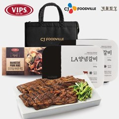 [빕스] CJ푸드빌 선물세트 1호(LA양념갈비2개/바베큐폭립1개)