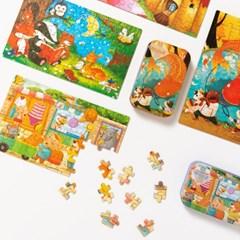 동화 동물 틴케이스 어린이 퍼즐 60pcs