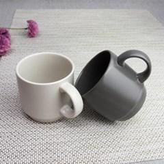 더가온 국내산 도자기그릇 한식기 머그컵 커피컵 2개