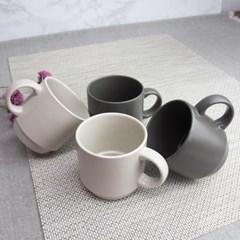 더가온 국내산 도자기그릇 한식기 머그컵 커피컵 4개