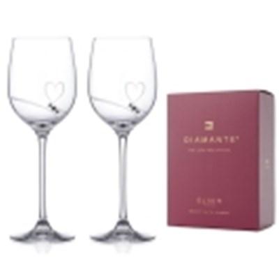크리스탈 장식 디아멘테 Diamente 2P 와인잔