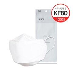 국내산KF80 보건용 마스크 화이트 100매(대/중/소형)