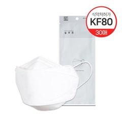 국내산KF80 보건용 마스크 화이트 30매(대/중/소형)