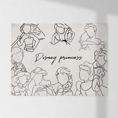 인테리어 패브릭 포스터_Disney princess