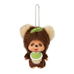 Monchhichi Friends Tanutanu Big Head SS Mascot Keychain