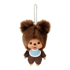 Monchhichi Friends Kuma Big Head SS Mascot Keychain