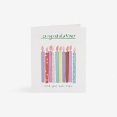 축하캔들 카드
