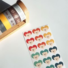 문곰이 하트스티커 9가지 색상