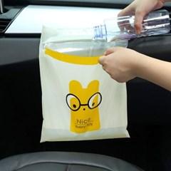 차량용 접착식 쓰레기봉투 15p세트/자동차비닐봉투