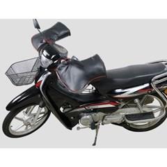액티브 방한 오토바이 핸들커버  가죽 기모 방한토시