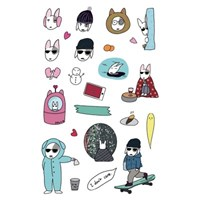 JOLLA IN WINTER 24 pcs Sticker Set. (리무버블스티커)