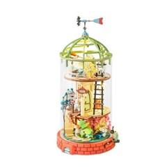 DS001 돔형 다락방 (DIY Glass Miniature Dollhouse) 로보타임