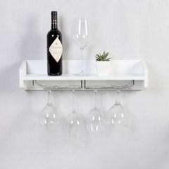 우드 밀라노 디자이너 와인잔걸이 벽선반 600-화이트