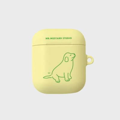 Happy Moment Dog 에어팟/에어팟프로 케이스 (Lemon)