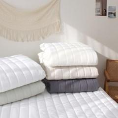 멜로우 세미워싱 사계절 침대패드(S/Q) 5color