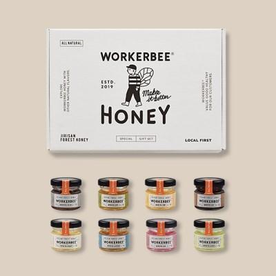 [꿀선물] 워커비 기프트세트 미니자